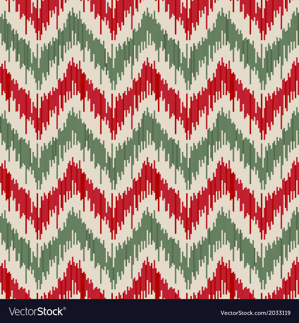 Traditional ikat seamless ornament vector | Price: 1 Credit (USD $1)
