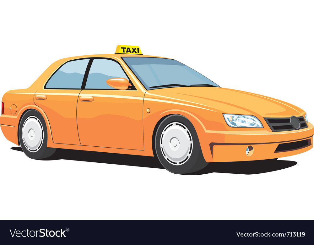 Yellow taxi vector | Price: 3 Credit (USD $3)