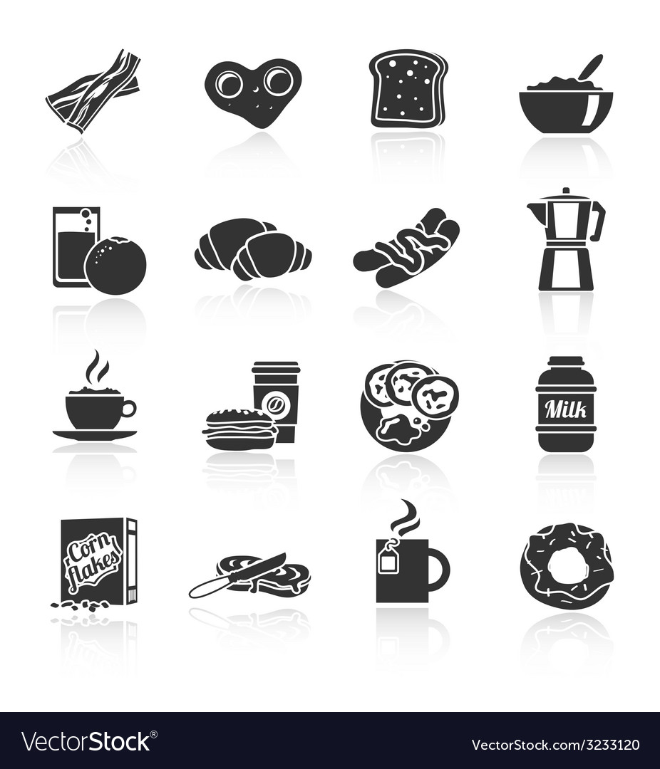 Breakfast icon black vector | Price: 1 Credit (USD $1)