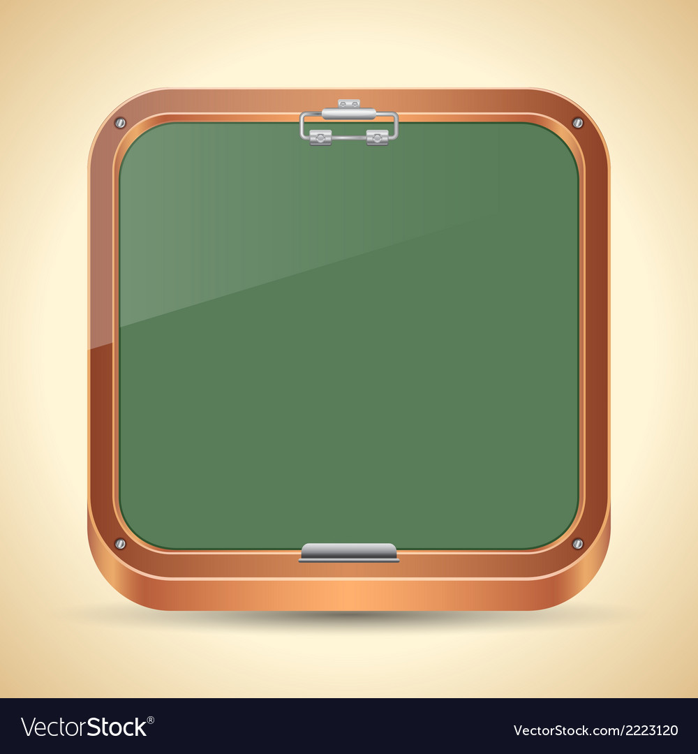 Chalkboard icon vector | Price: 1 Credit (USD $1)
