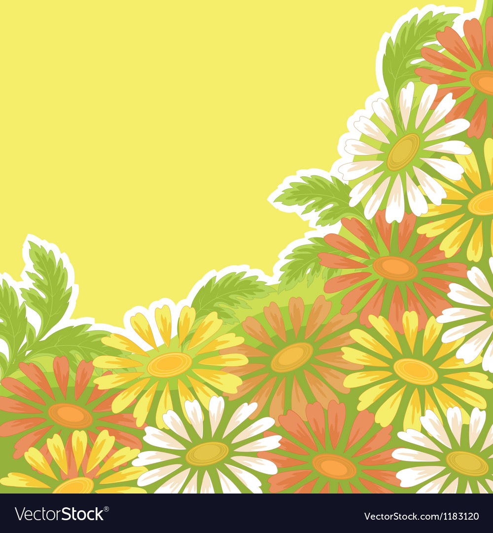 Flower holiday background vector | Price: 1 Credit (USD $1)