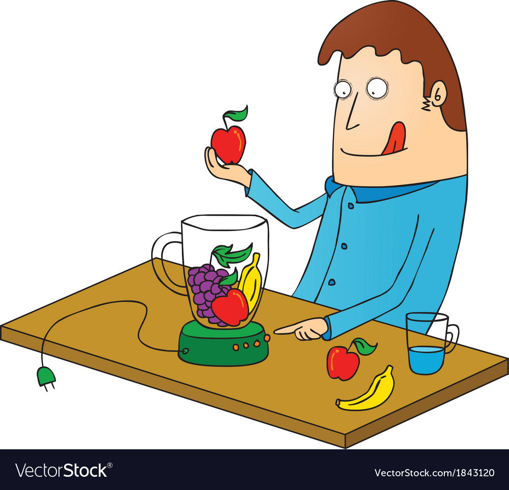 Man making juice vector | Price: 1 Credit (USD $1)
