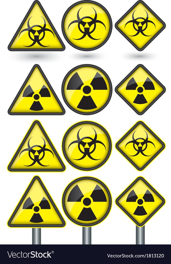 Radiation sign radiation symbol set vector   Price: 1 Credit (USD $1)