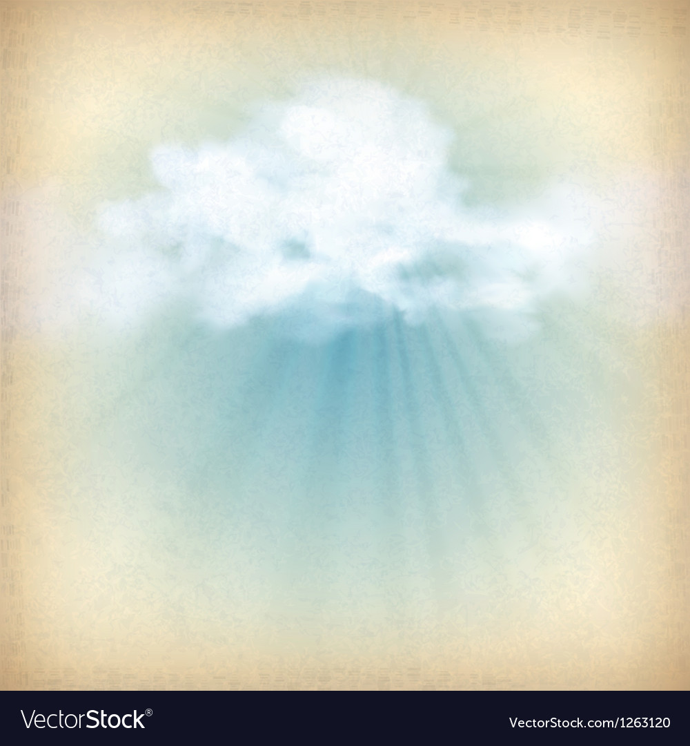 Sunlight rays through clouds background vector | Price: 1 Credit (USD $1)