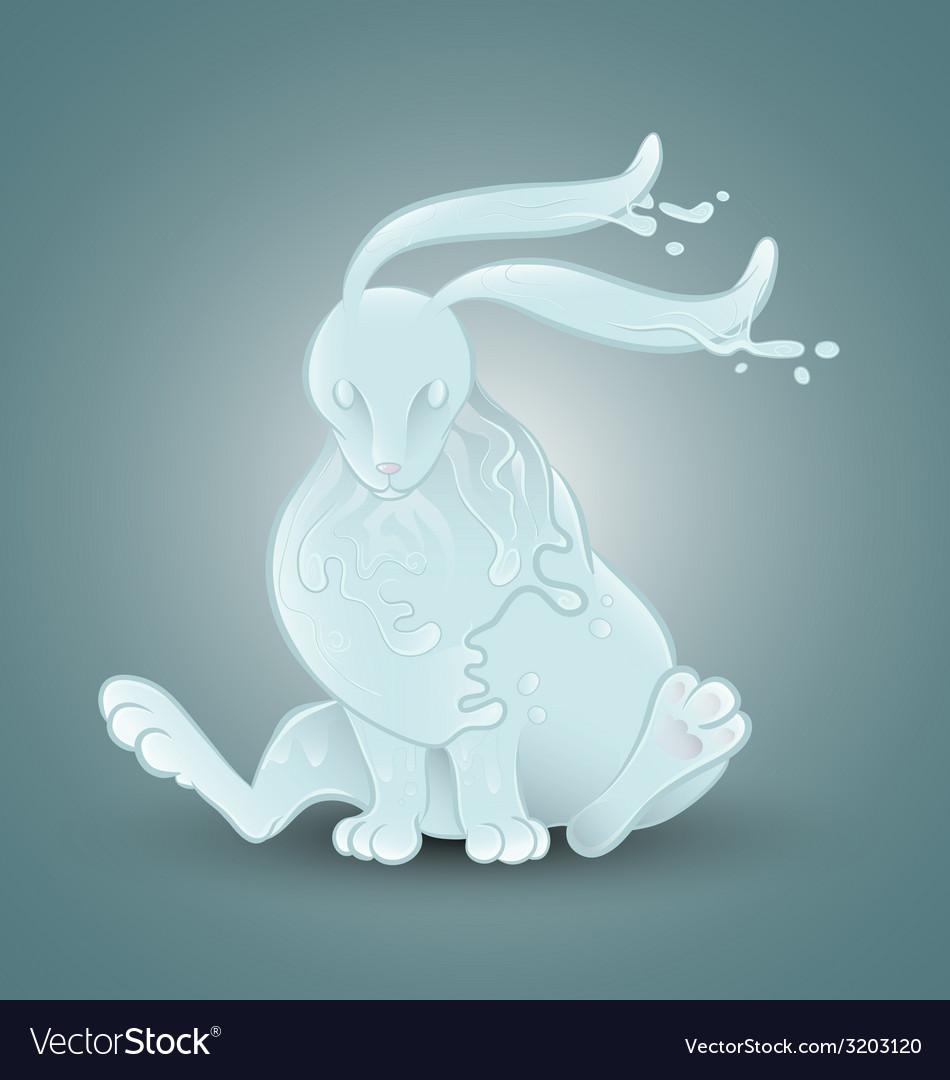 Water rabbit vector | Price: 1 Credit (USD $1)