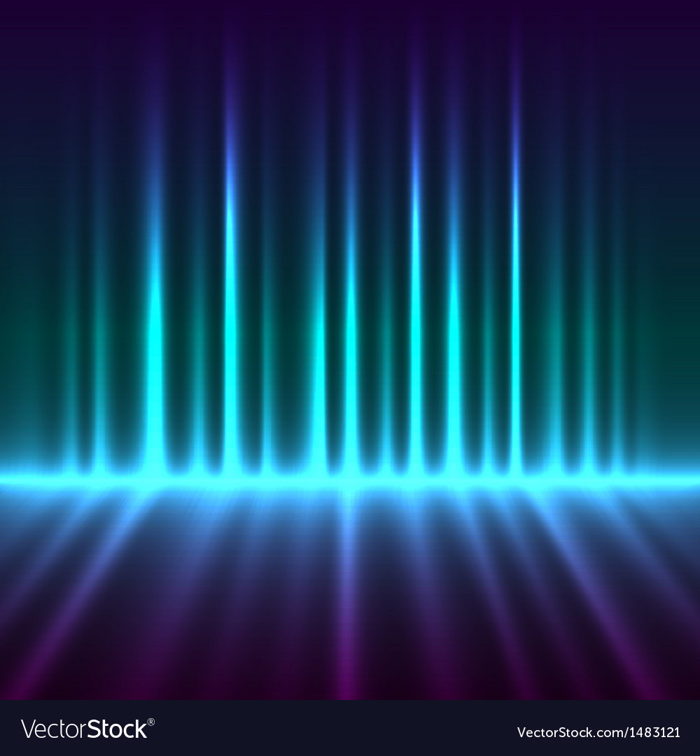 Abstract aurora borealis lights background vector | Price: 1 Credit (USD $1)