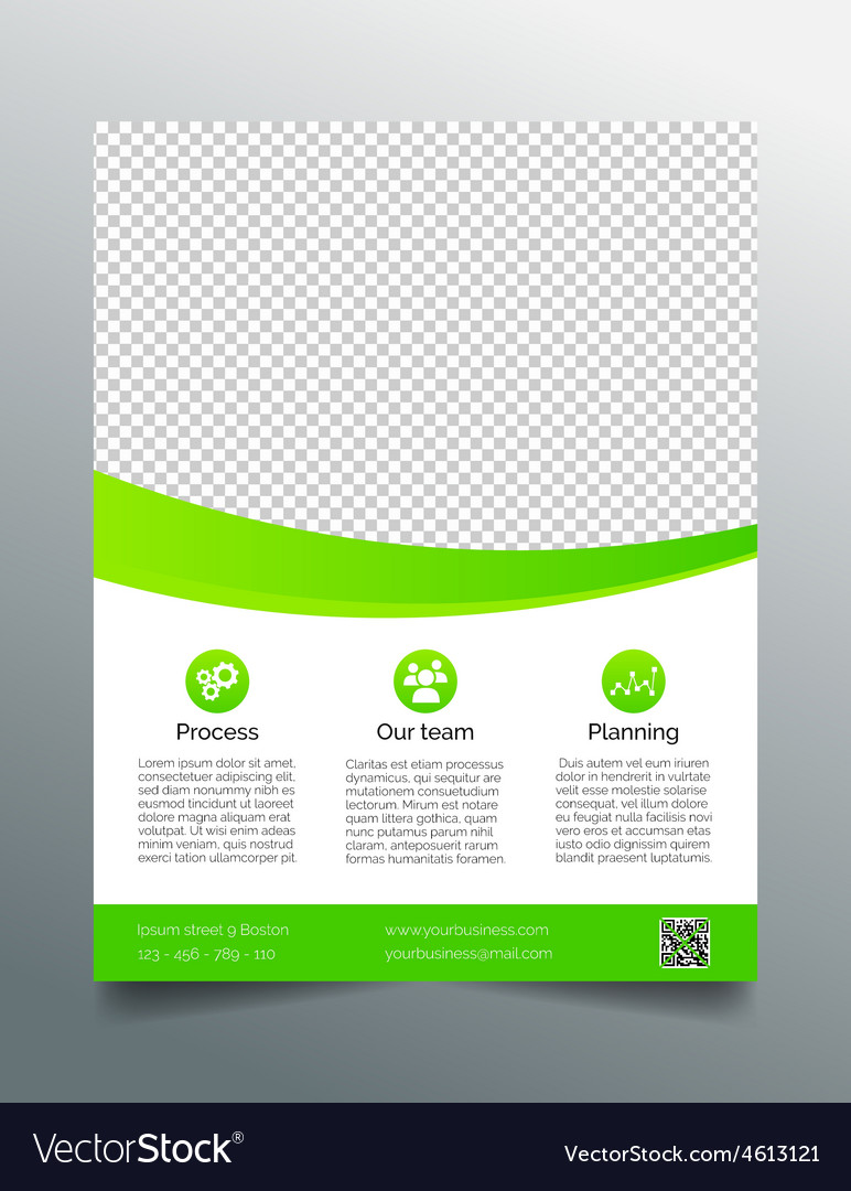 Business flyer template - simple sleek design vector | Price: 1 Credit (USD $1)