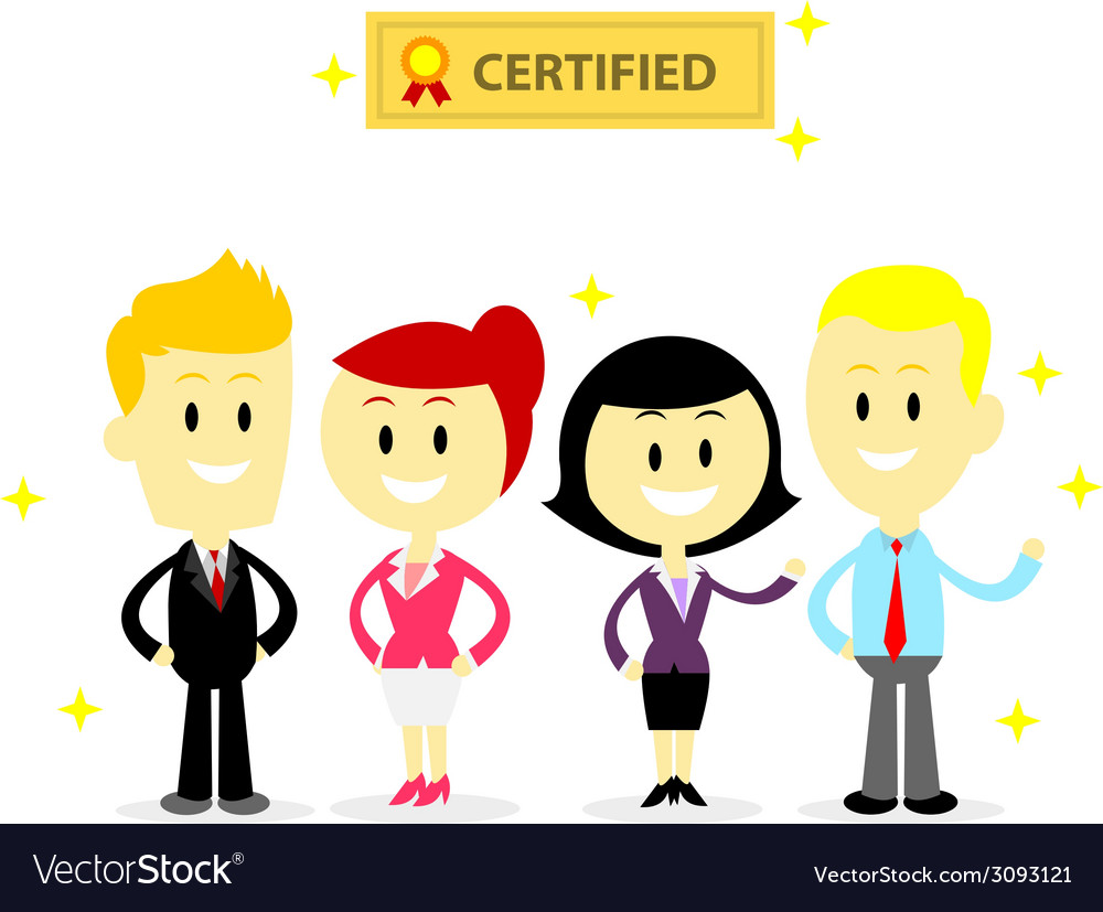 Certified professional employees vector | Price: 1 Credit (USD $1)