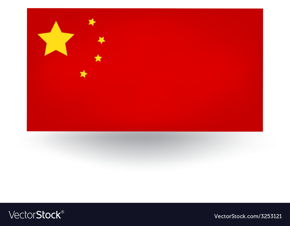 Chinese flag vector | Price: 1 Credit (USD $1)