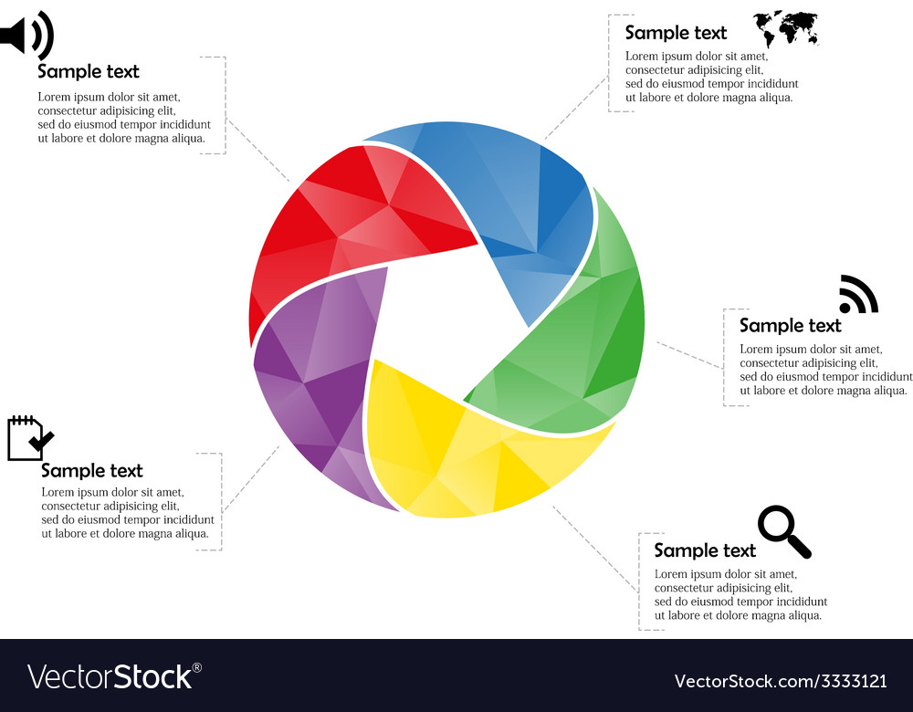 Circle infographic vector | Price: 1 Credit (USD $1)