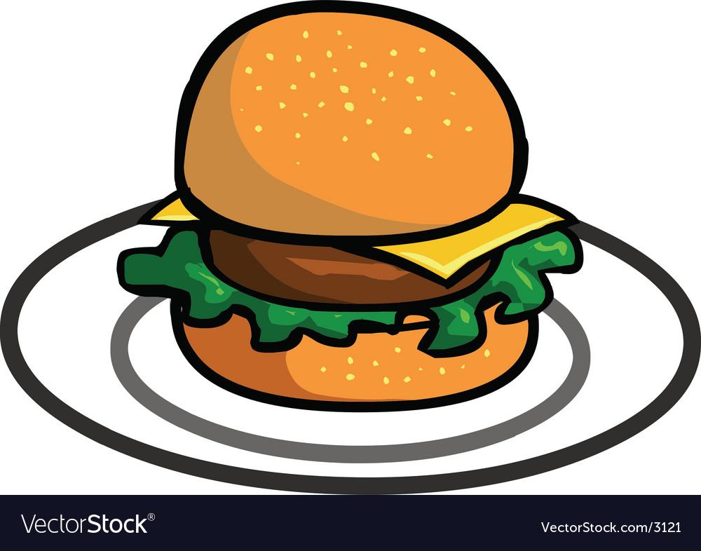 Delicious hamburger vector   Price: 1 Credit (USD $1)