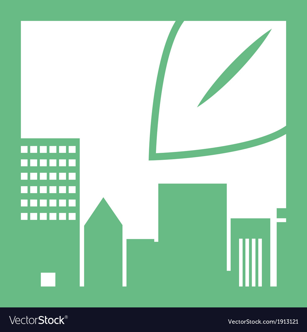 Eco buildings 06 vector | Price: 1 Credit (USD $1)