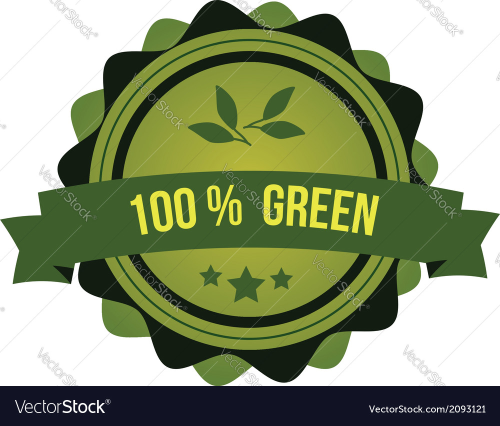 Green badge vector | Price: 1 Credit (USD $1)