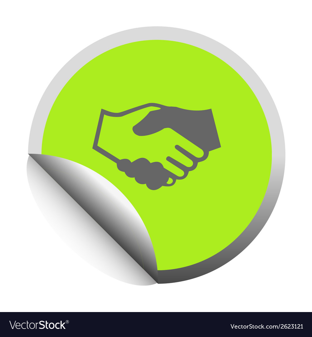 Handshake black icon vector | Price: 1 Credit (USD $1)