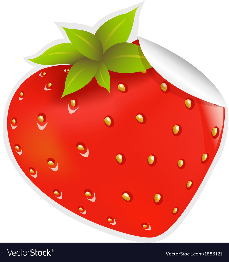 Label strawberry vector | Price: 1 Credit (USD $1)