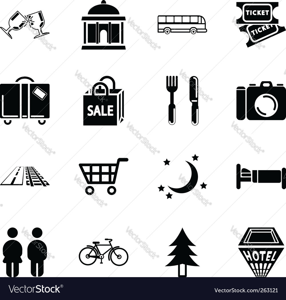 Location tourism icons vector | Price: 1 Credit (USD $1)