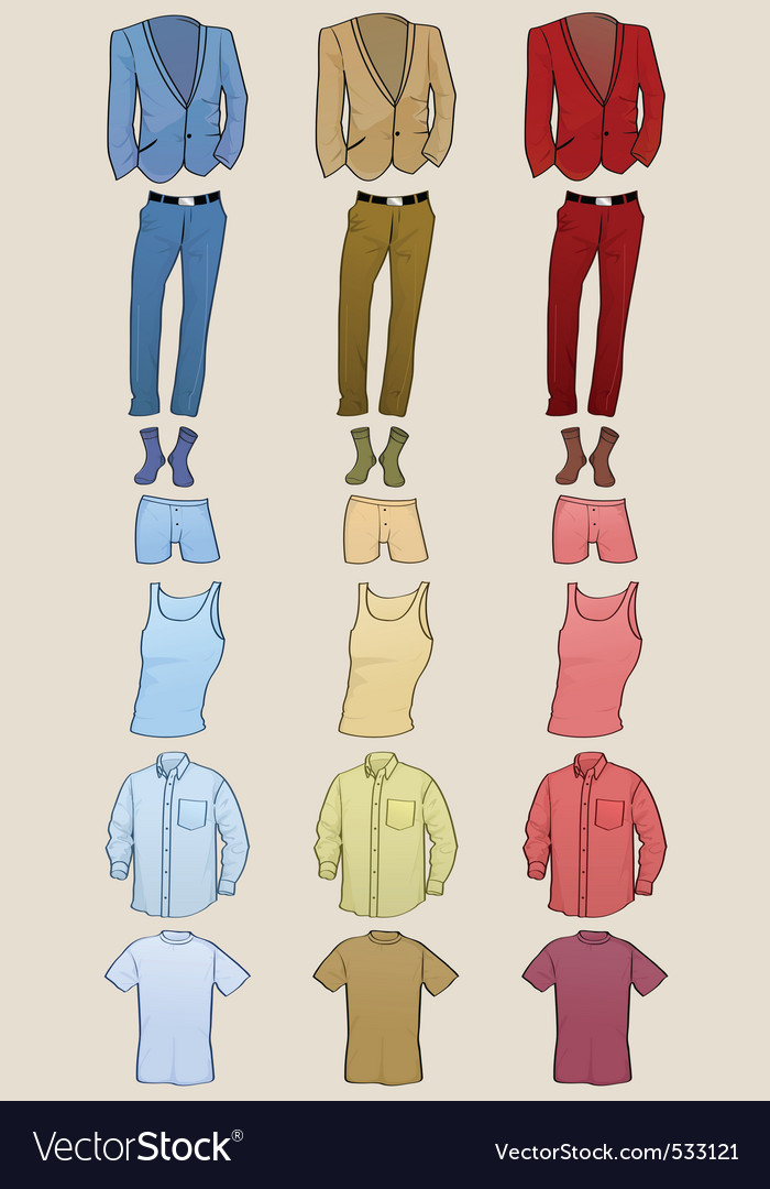 Male clothing vector | Price: 1 Credit (USD $1)