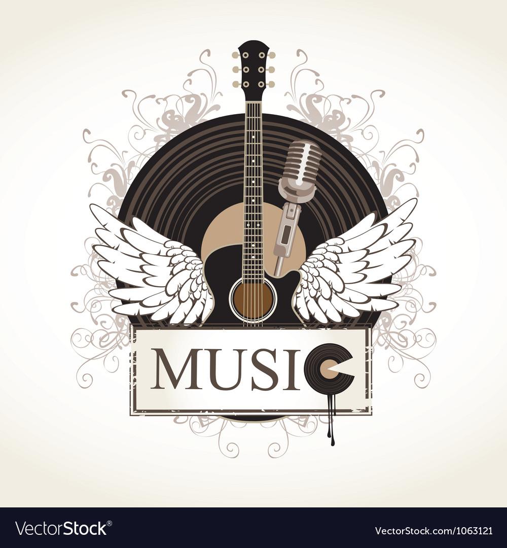 Music flourishes vector