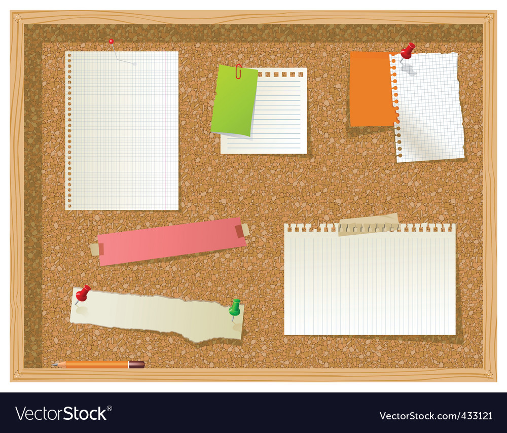 Office noticeboard vector