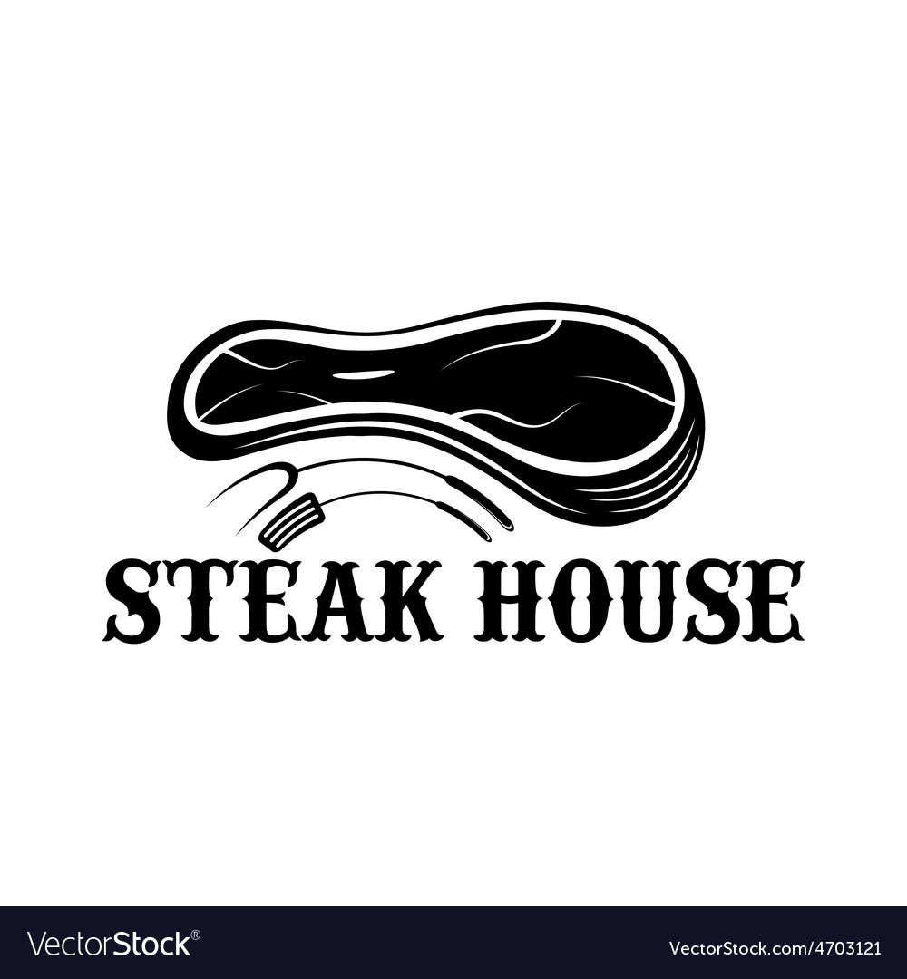 Steak house design template vector | Price: 1 Credit (USD $1)