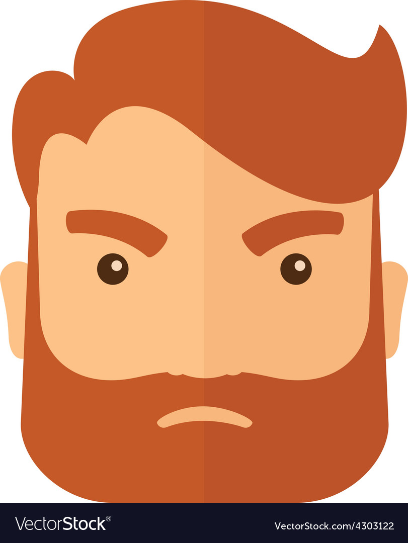Angry face vector | Price: 1 Credit (USD $1)
