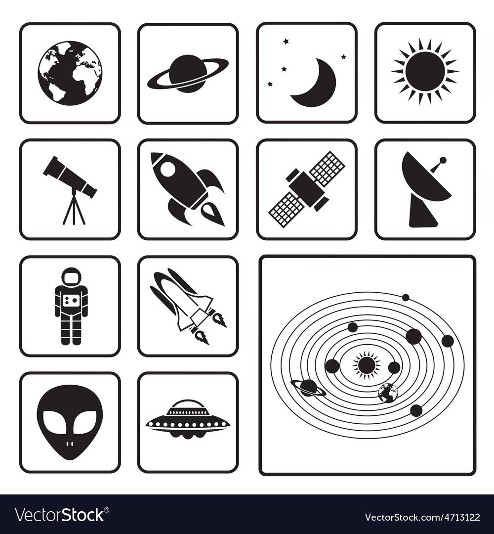 Astronomy icon vector | Price: 1 Credit (USD $1)