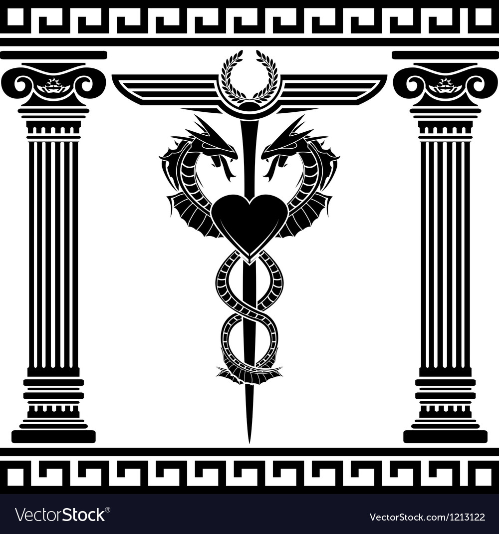 Fantasy medical symbol stencil vector | Price: 1 Credit (USD $1)