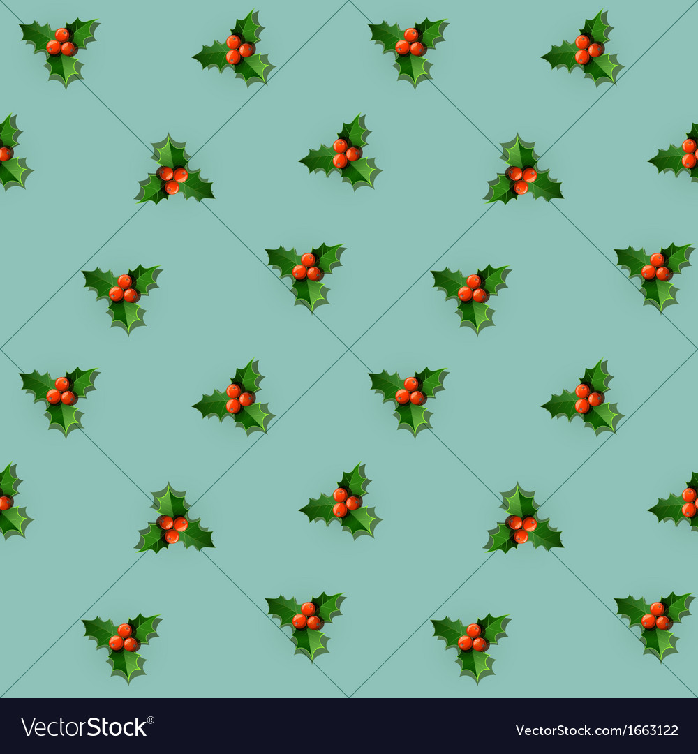 Holly berry with leaves vector | Price: 1 Credit (USD $1)