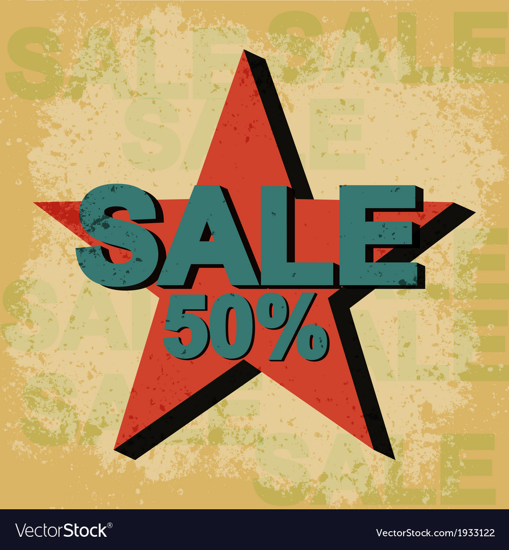 Sale vintage poster vector | Price: 1 Credit (USD $1)