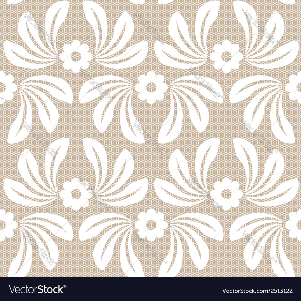 Seamless white lace background vector | Price: 1 Credit (USD $1)