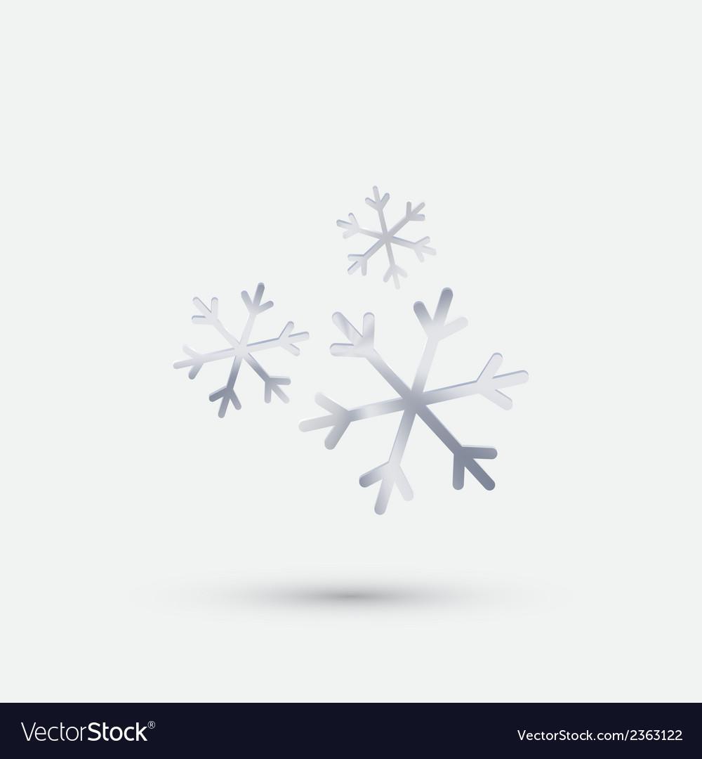 Steel icon snow vector | Price: 1 Credit (USD $1)
