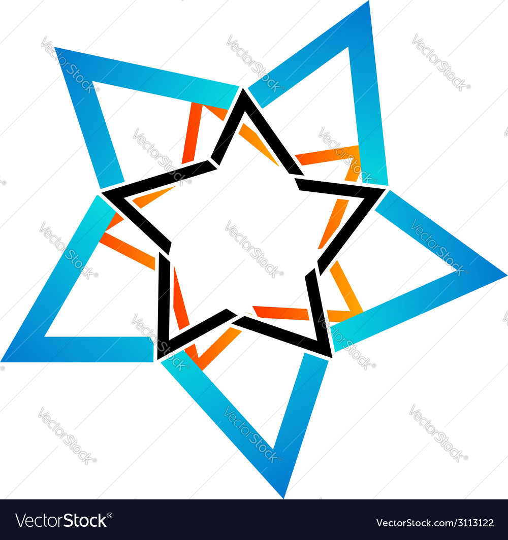 Stylized star design element vector | Price: 1 Credit (USD $1)
