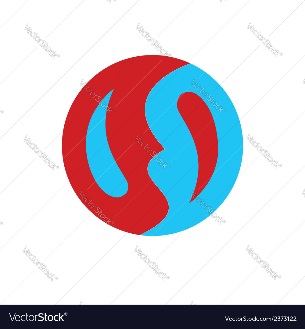 Symbol similar to yin-yan simple and flat vector | Price: 1 Credit (USD $1)