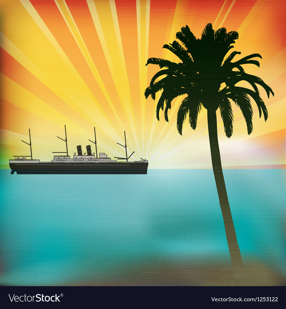 Vintage sea cruise vector | Price: 1 Credit (USD $1)