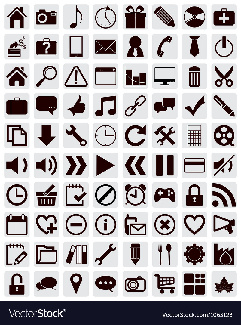 80 different web icons vector | Price: 1 Credit (USD $1)