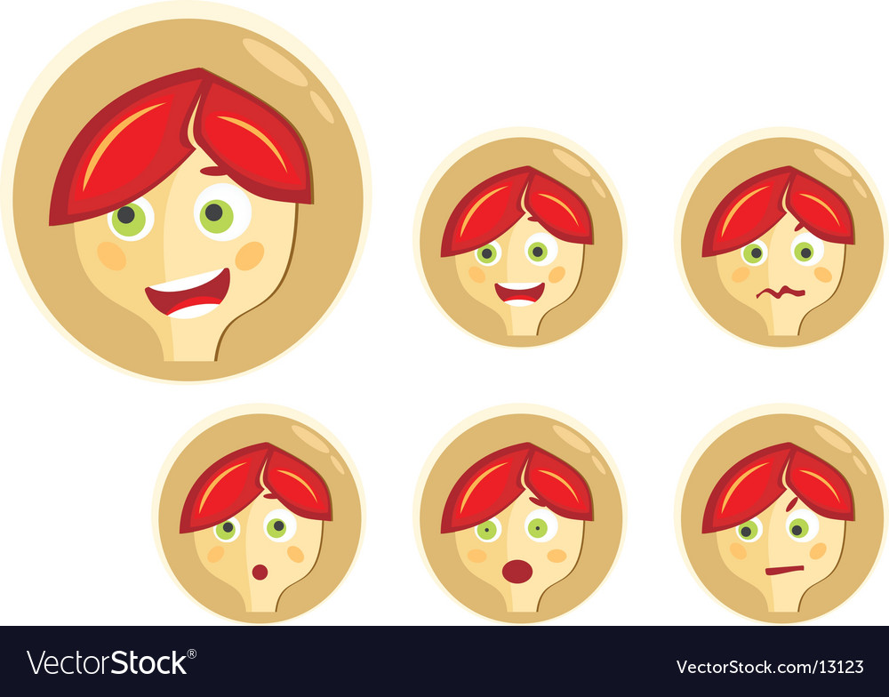 Boy expressions vector | Price: 3 Credit (USD $3)
