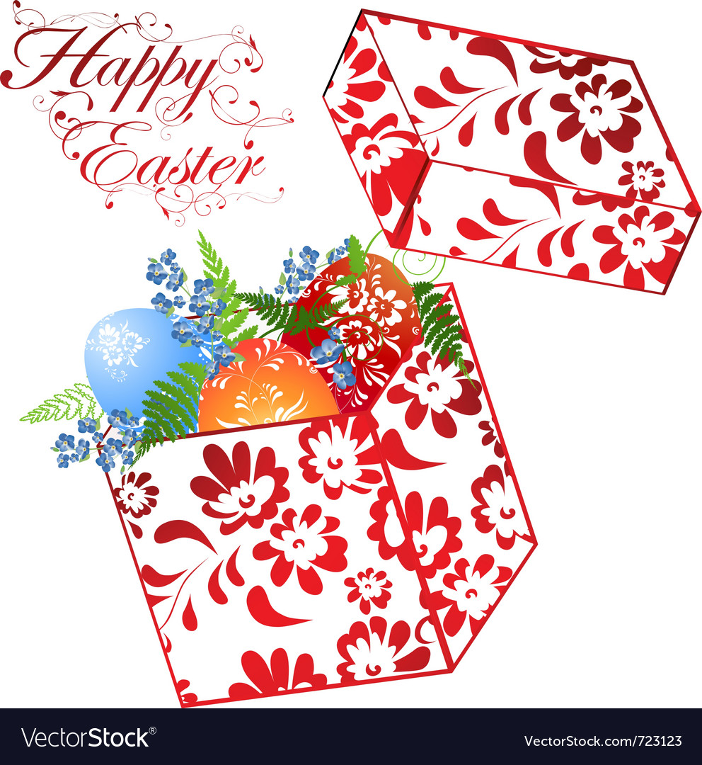 Easter holiday gift box vector | Price: 1 Credit (USD $1)