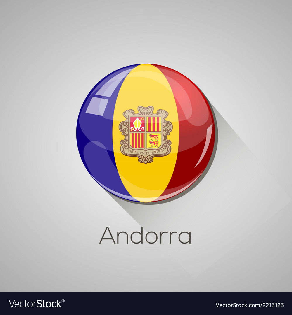 European flags set - andorra vector | Price: 1 Credit (USD $1)