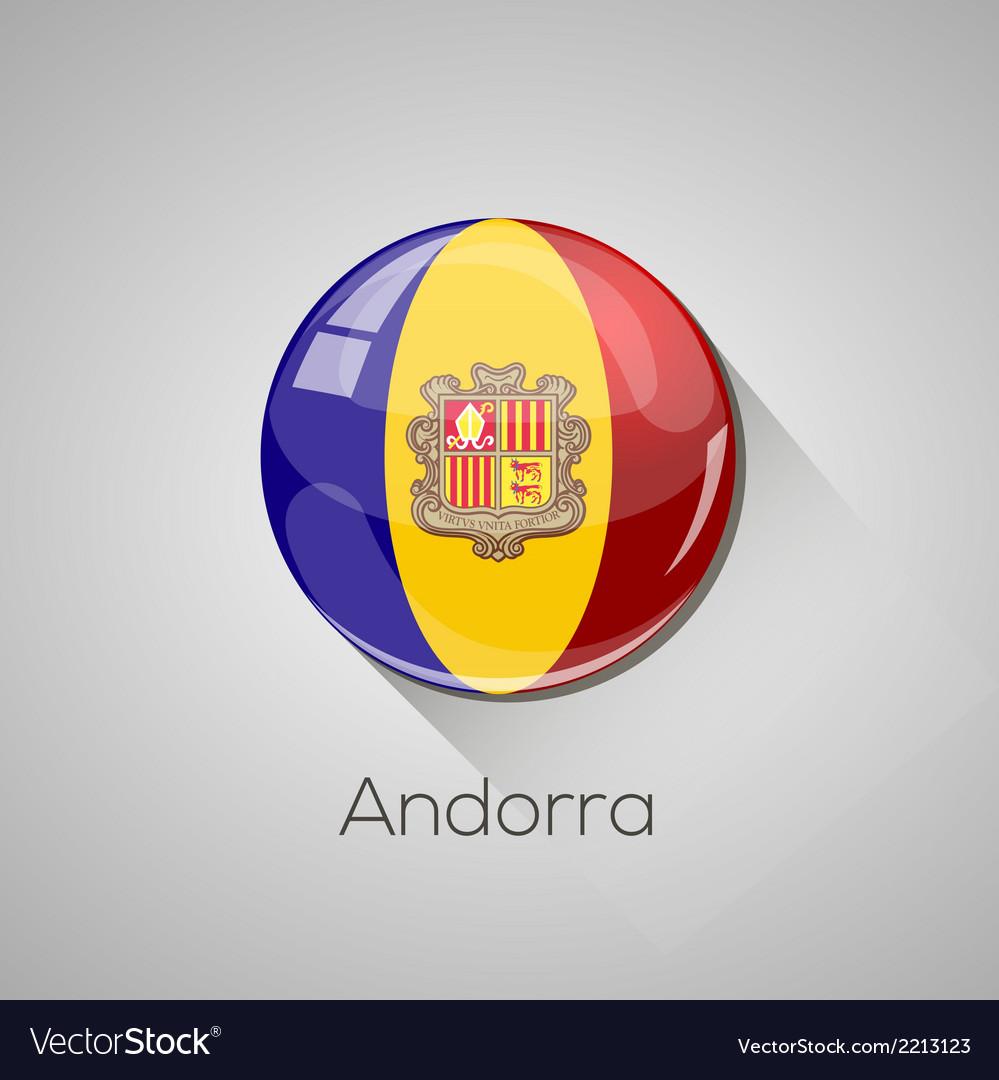 European flags set - andorra vector   Price: 1 Credit (USD $1)
