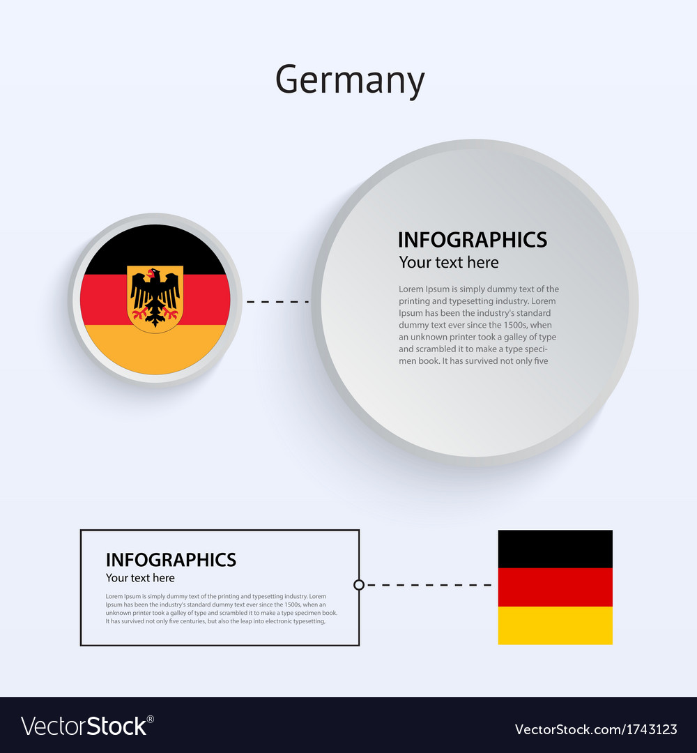 Germany country set of banners vector | Price: 1 Credit (USD $1)