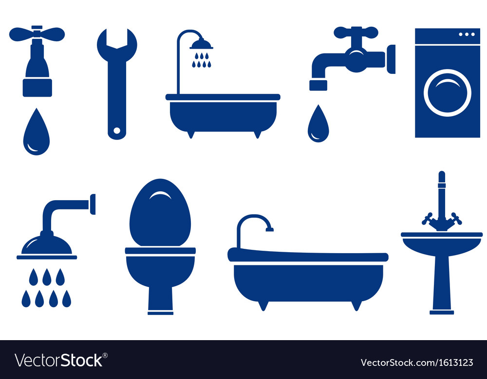 Isolated bath objects on white background vector | Price: 1 Credit (USD $1)