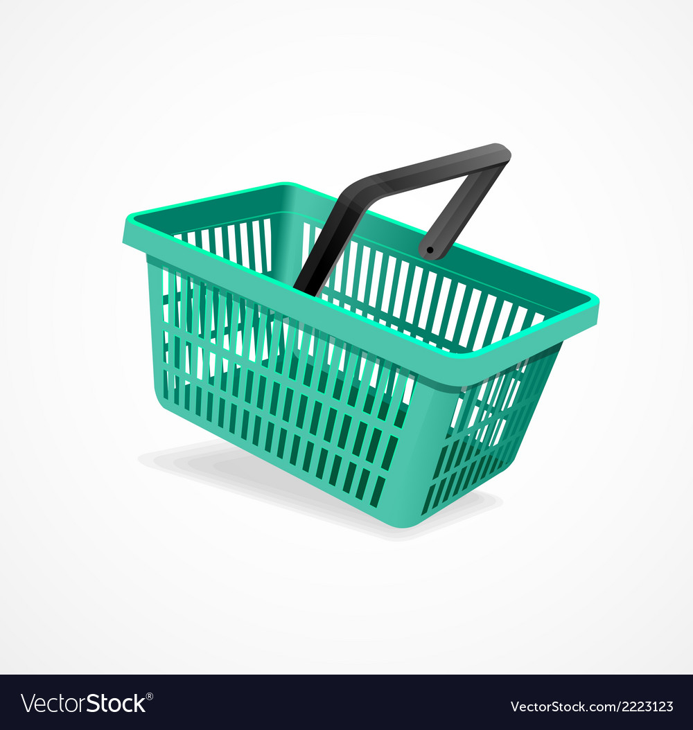 Shopping basket green vector | Price: 1 Credit (USD $1)