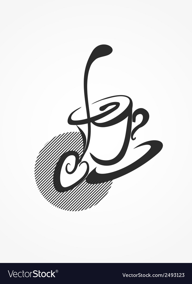 Spoon and mug vector | Price: 1 Credit (USD $1)