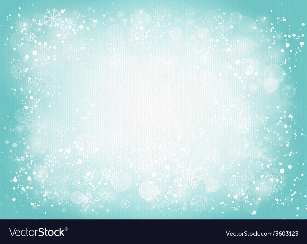 Turquoise canvas background with snowflakes vector | Price: 1 Credit (USD $1)