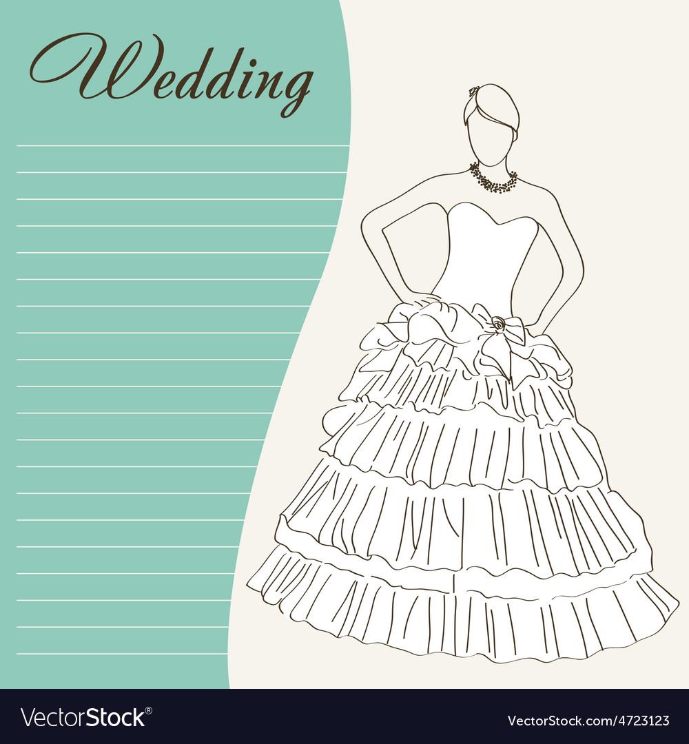 Wedding dress vector   Price: 1 Credit (USD $1)