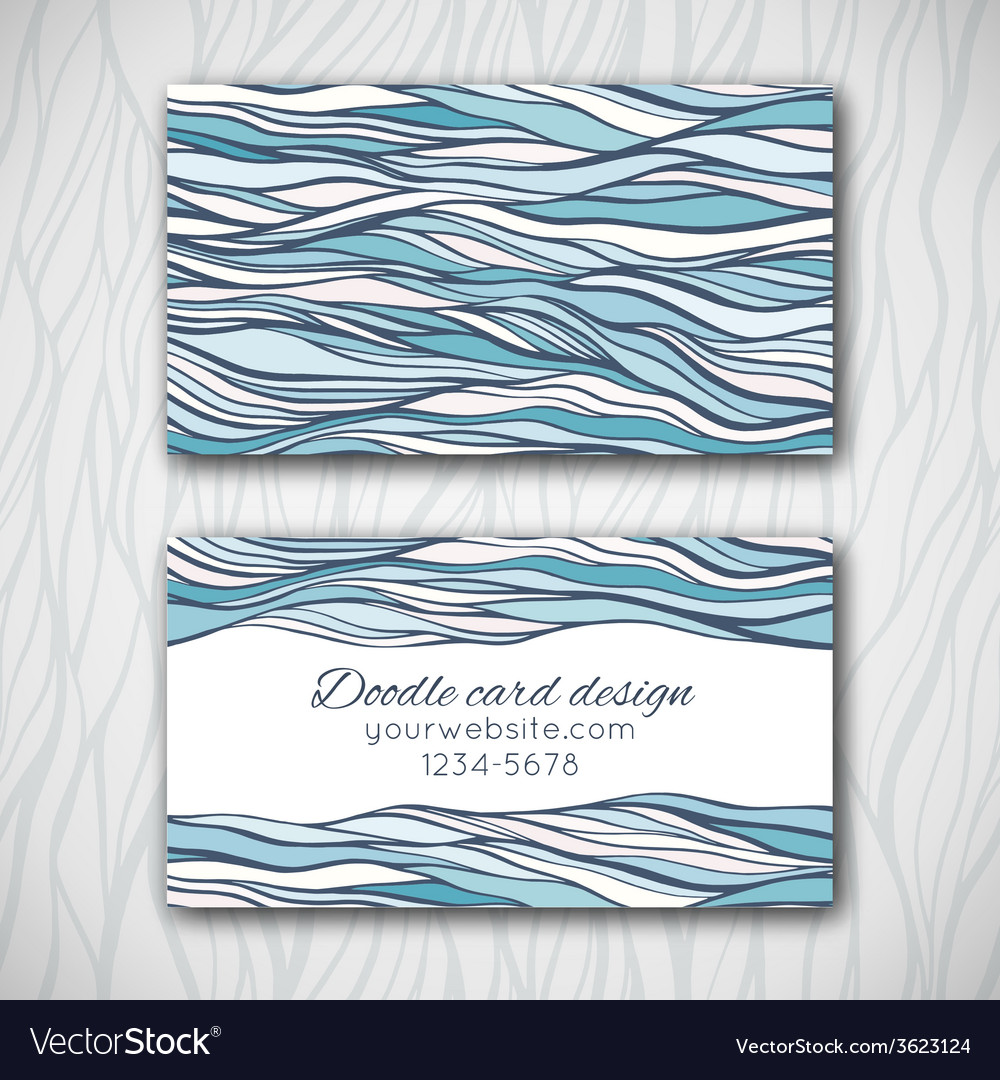 Abstract doodle business card template vector | Price: 1 Credit (USD $1)