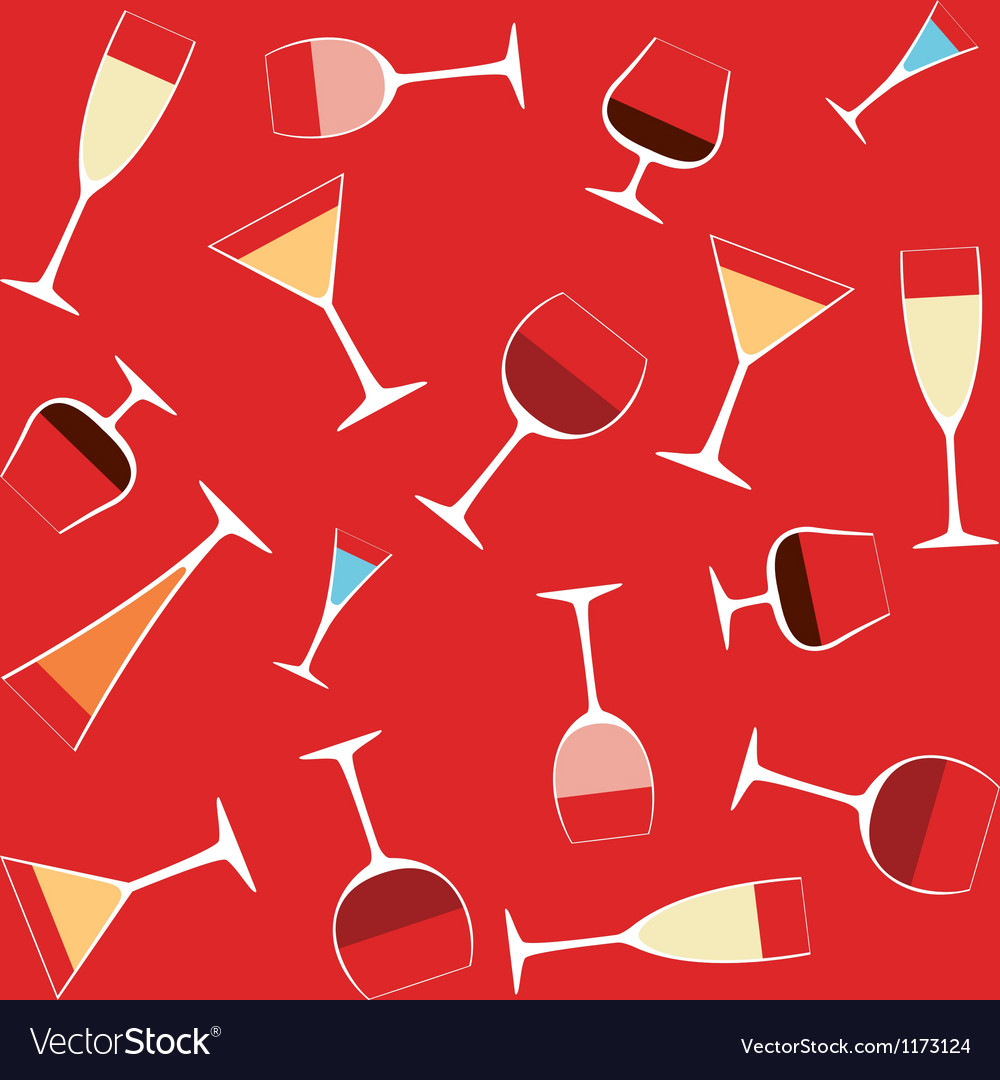Alcohol in glasses vector | Price: 1 Credit (USD $1)