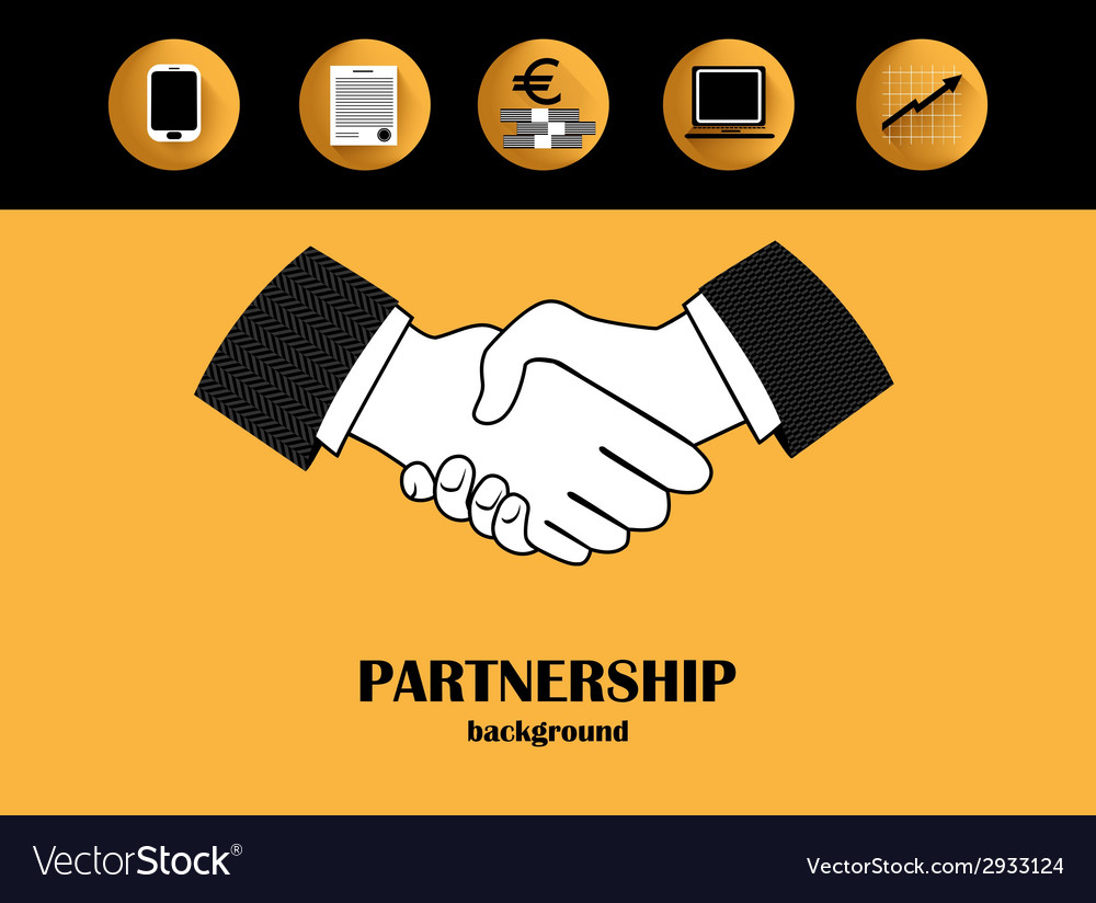 Business partnership backgound vector | Price: 1 Credit (USD $1)