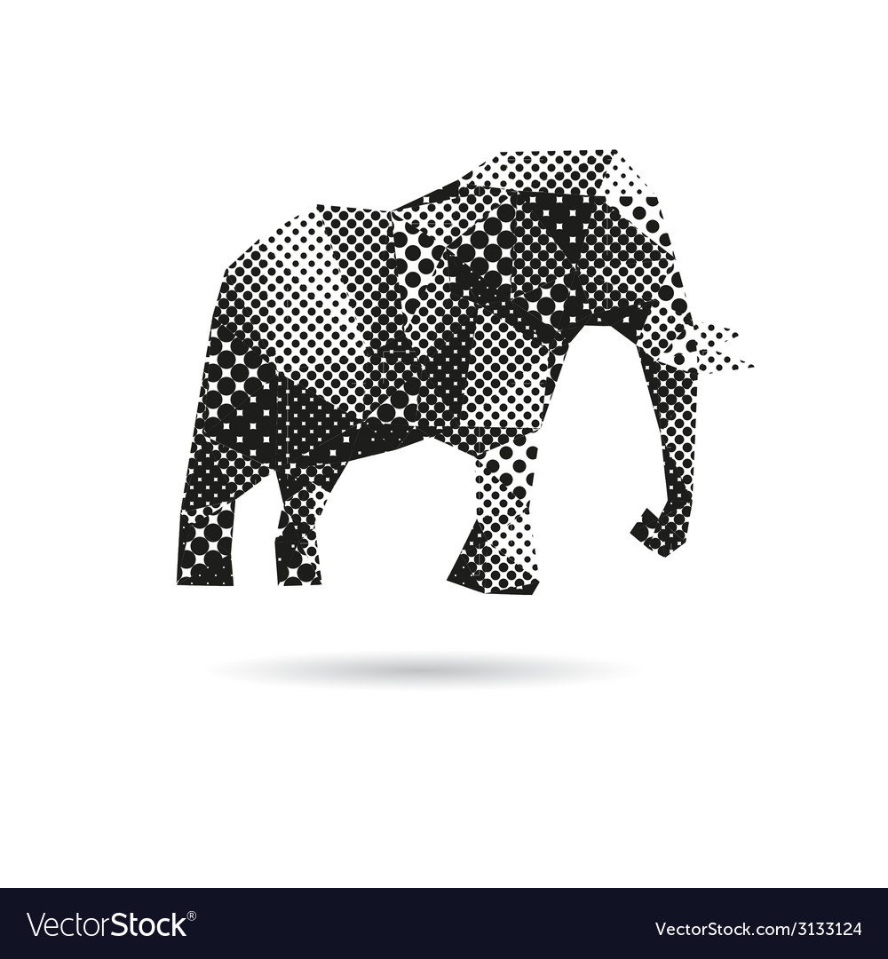 Elephant abstract isolated vector | Price: 1 Credit (USD $1)