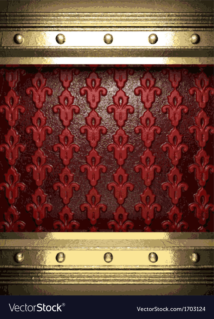 Gold on red background vector | Price: 1 Credit (USD $1)
